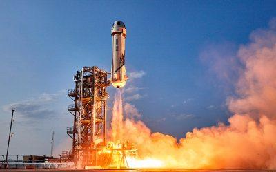 El hidrógeno líquido lanza el 'New Shepard' de Jeff Bezos al espacio